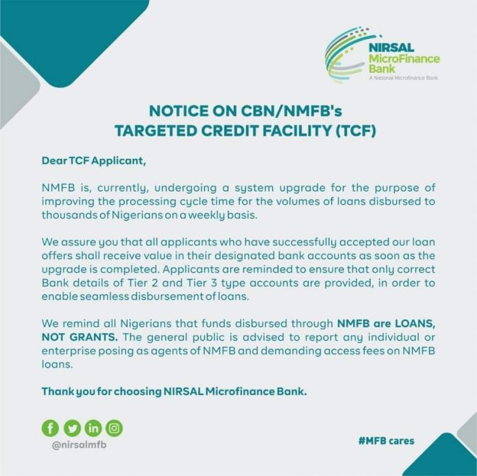 CBN/NMFB Important Notice